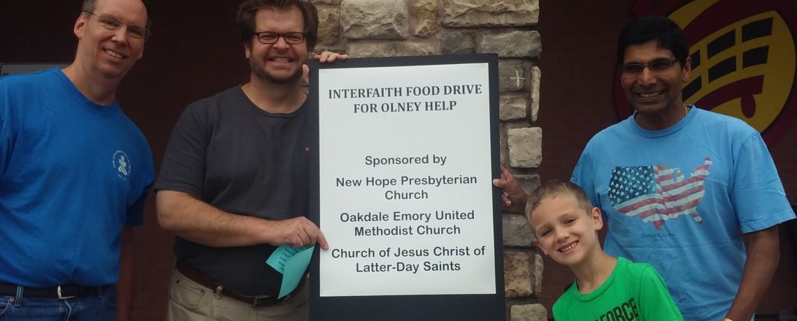 Join New Hope as we help Olney Help collect groceries