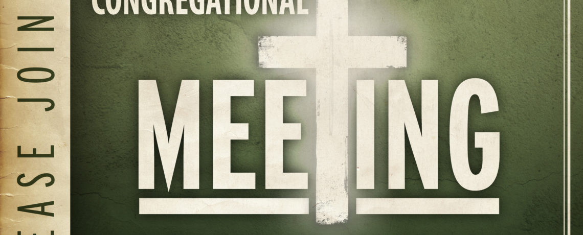 Mark your Calendar!: Annual Congregational Meeting is Sunday, Oct. 23rd